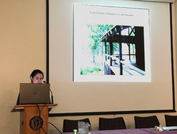 Nina Caruso (RWU MSHP '14) presenting her thesis work at the 2015  Cultural Landscapes and Heritage Values Conference