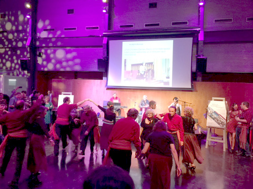 Traditional Québécois folk dancing at the end of conference celebration.